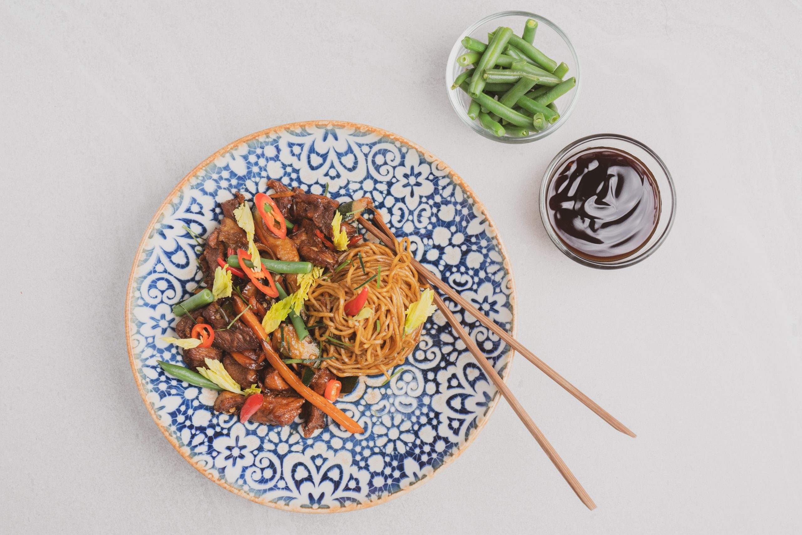 Hoisin Pork & Peas Stir Fry
